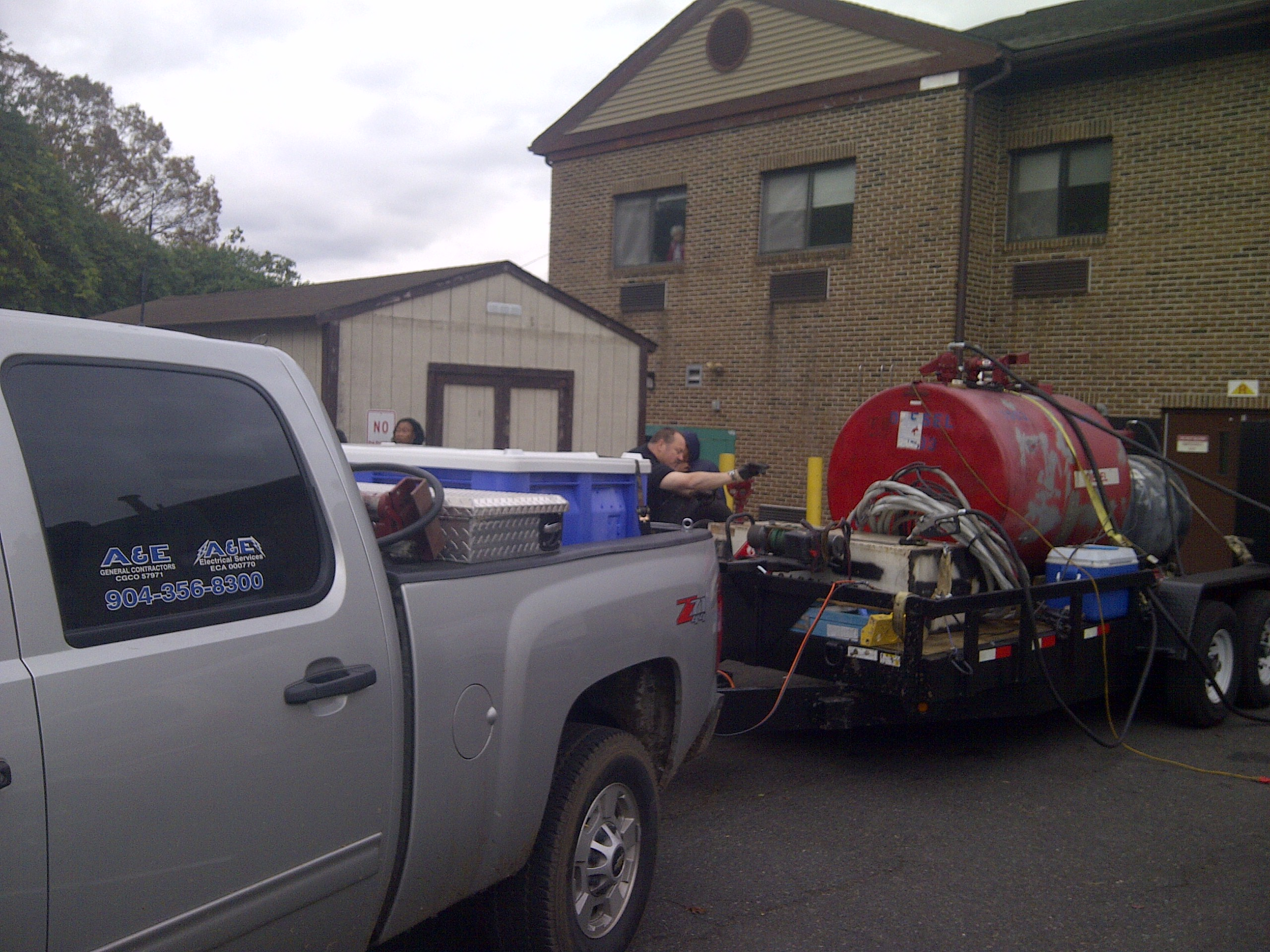 HCR Manor care getting fuel rasions during Hurricane Sandy