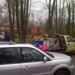 HCR Manor care employees getting fuel rasions during Hurricane Sandy